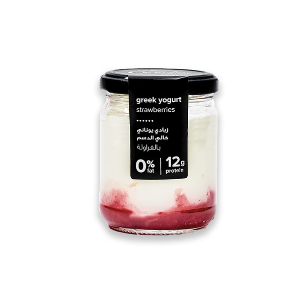 Greek Yogurt Strawberry – 0% Fat 140g thumbnail