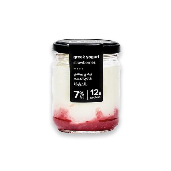 Greek Yogurt Strawberry – 7% Fat 140g thumbnail