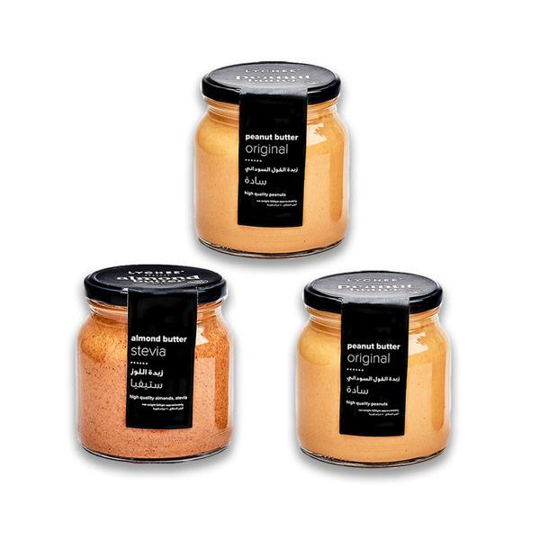 Buy 1 almond butter jar & 1 peanut butter jar, get 1 peanut butter jar for Free (500gm) thumbnail